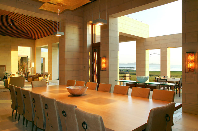 Pebble Beach Residence Contemporary Dining Room