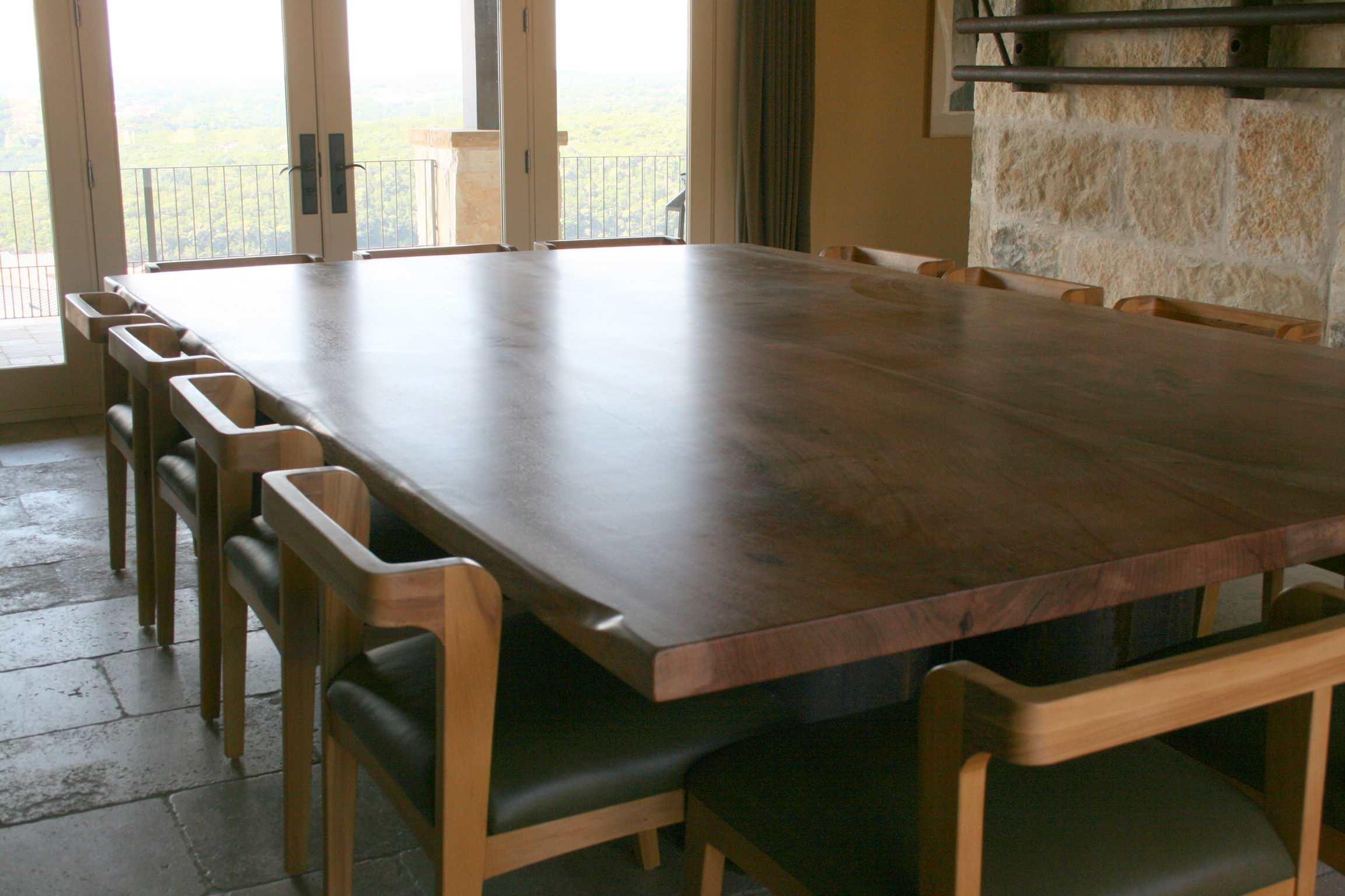 Pecan Live Edge Table