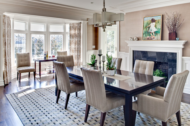 Merveilleux Enclosed Dining Room   Large Contemporary Dark Wood Floor And Brown Floor  Enclosed Dining Room Idea. Email Save. Karen Houghton Interiors
