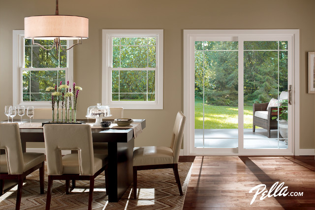 Pella® 350 Series Double Hung Window - Contemporary - Dining Room - other metro - by Pella ...