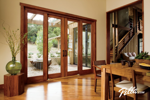 PellaR Architect SeriesR 4 Panel Sliding Patio Door Contemporary Dining Room