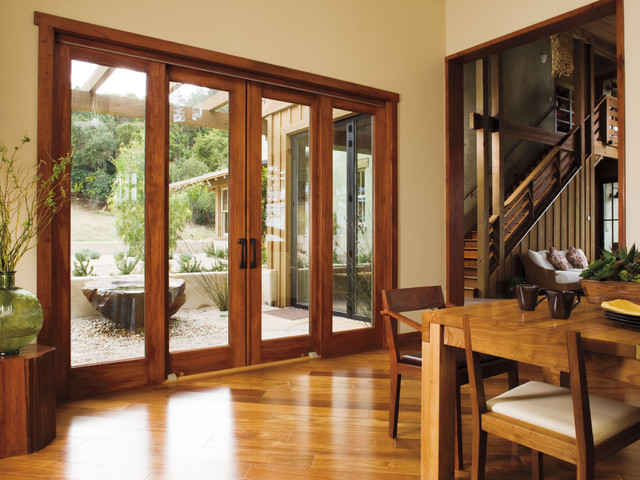 Pella Architect Series 4 Panel Sliding Patio Door Traditional Dining Ro
