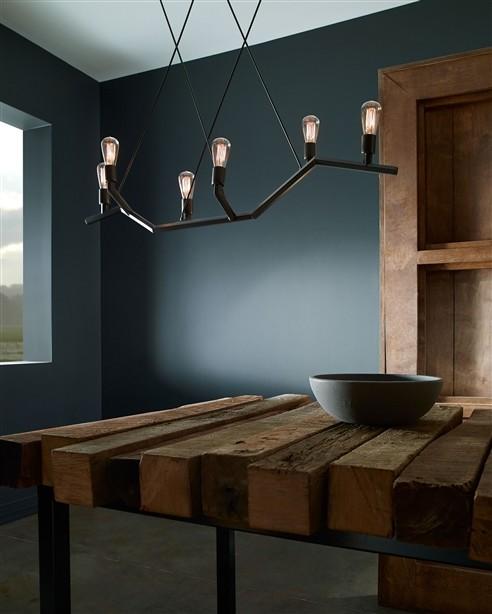 Pendant Lighting Farmhouse Dining Room denver by Inlighten Studios