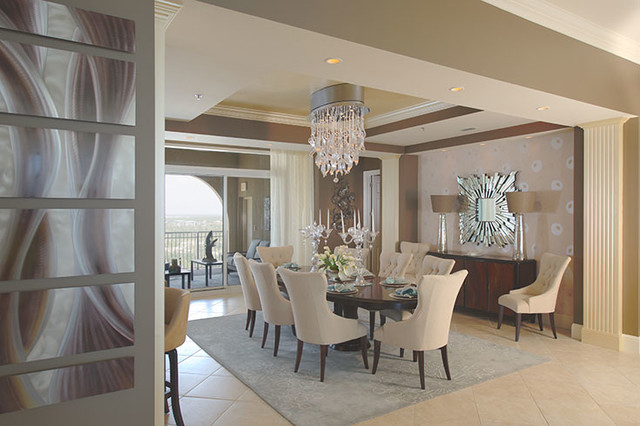 Penny Bowen Designs: Living Spaces contemporary-dining-room