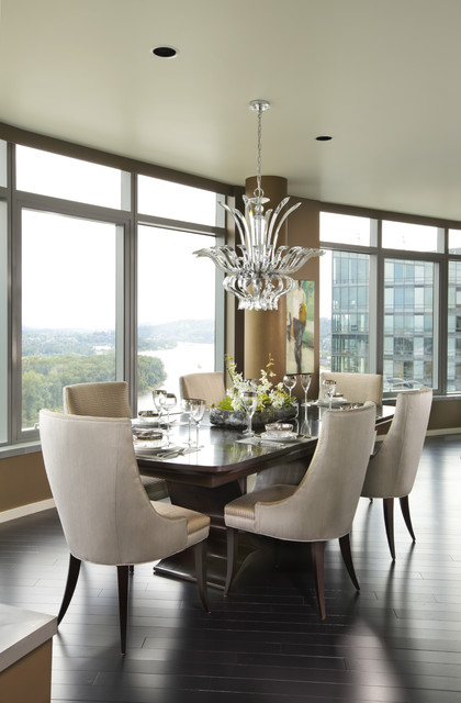 Penthouse remodel contemporary dining room portland for Houzz dining rooms contemporary