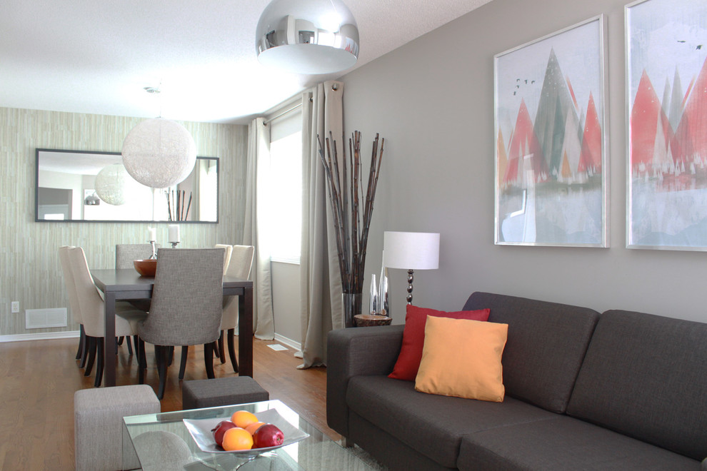 Example of a trendy great room design in Ottawa