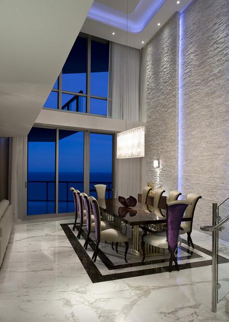 Pfuner Design - Jade Ocean Penthouse eclectic-dining-room