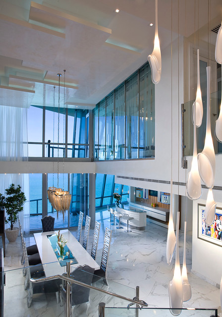Pfuner Design, Oceanfront Penthouse - Contemporary ...