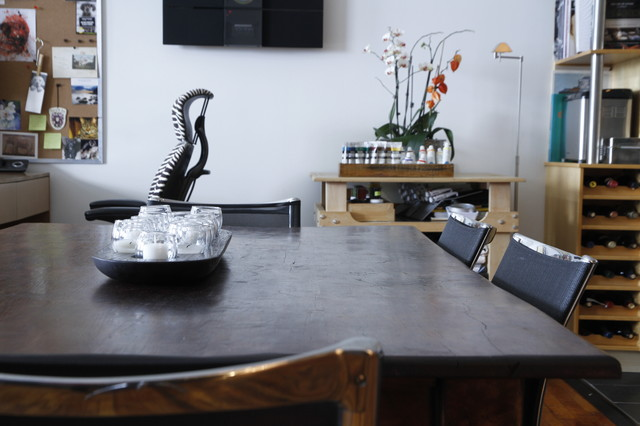 Industrial Dining Room by Esther Hershcovich
