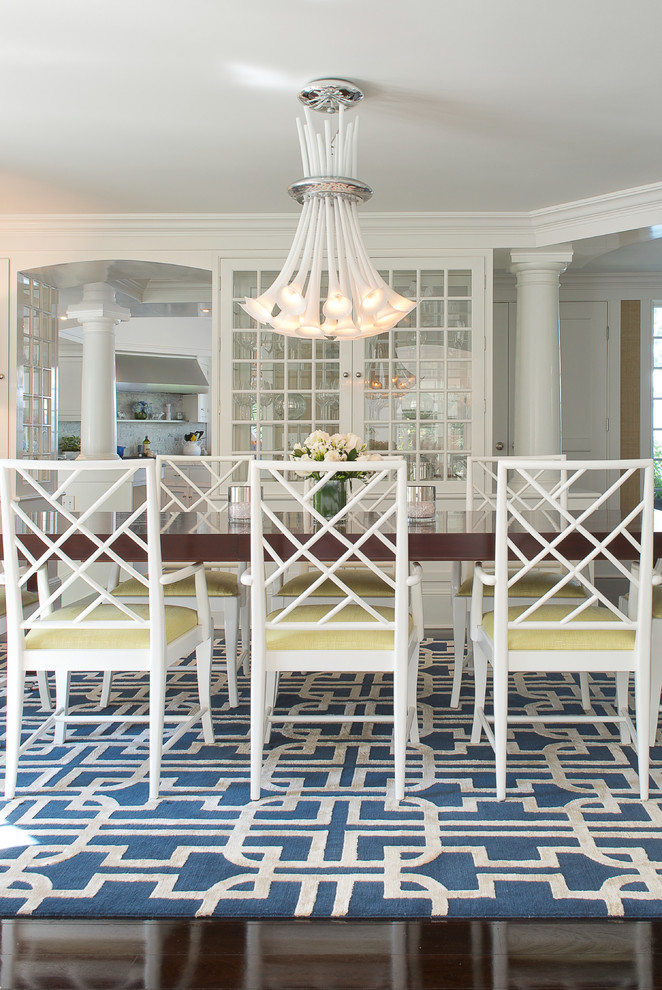Inspiration for a coastal dining room remodel in New York