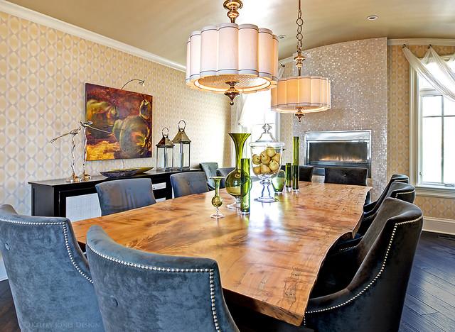 Pickwick tn lake house modern dining room nashville for Jones design company dining room