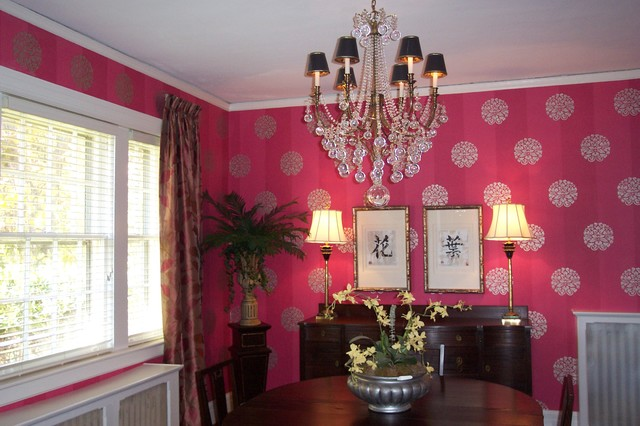 Pink Power traditional-dining-room