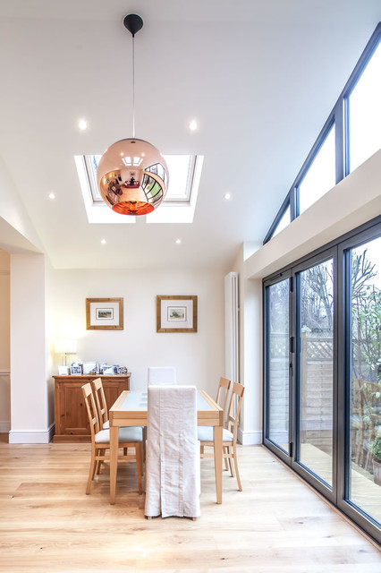 Pitched Roof Single Storey Extension In Teddington Traditional Dining Room