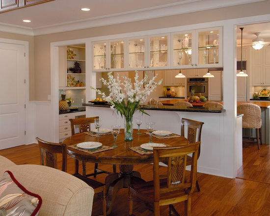 Kitchen divider home design ideas pictures remodel and decor for Half wall between living room and dining room
