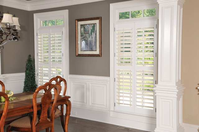 Plantation Shutters Traditional Dining Room Boston