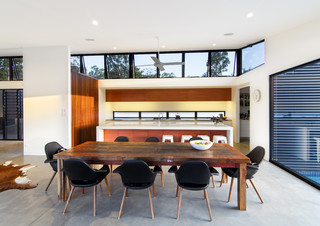 Platypus Bend House Contemporary Dining Room Sunshine Coast By Robinson Architects