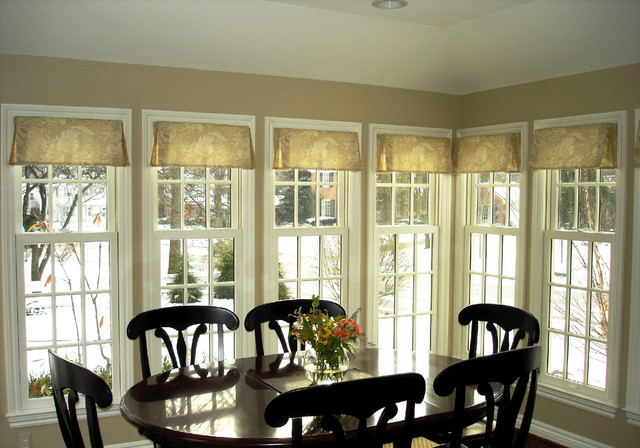 Pleated Valance Traditional Pleated Valance   Traditional   Dining Room    Detroit   By Susanu0027s