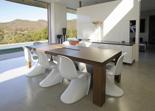 Plyned 108 Dining Table W Trough Modern Room