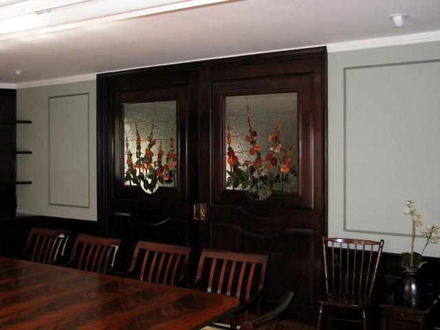 doors dining room family room divider traditional dining room
