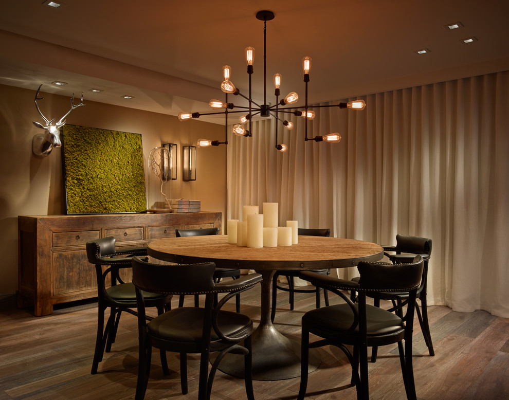 Inspiration for a transitional dining room remodel in Miami