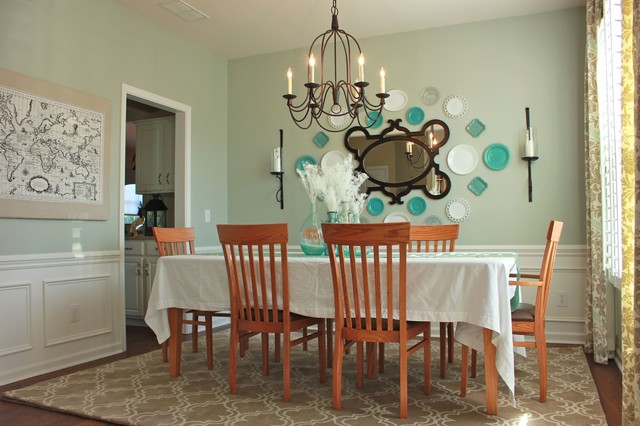 Exceptionnel Pops Of Turquoise Traditional Dining Room