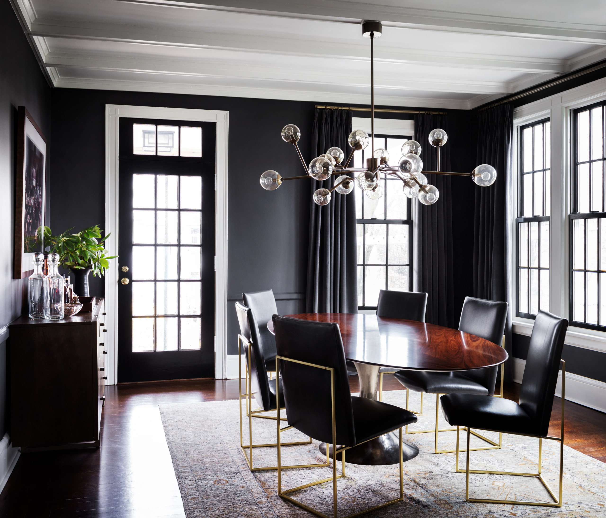 75 Black Dining Room Pictures Ideas, Black Dining Room