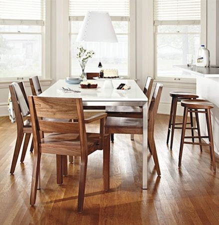 portica dining table, afton wood chairr&b - modern - dining ...