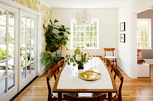 modern dining room by risa boyer architecture
