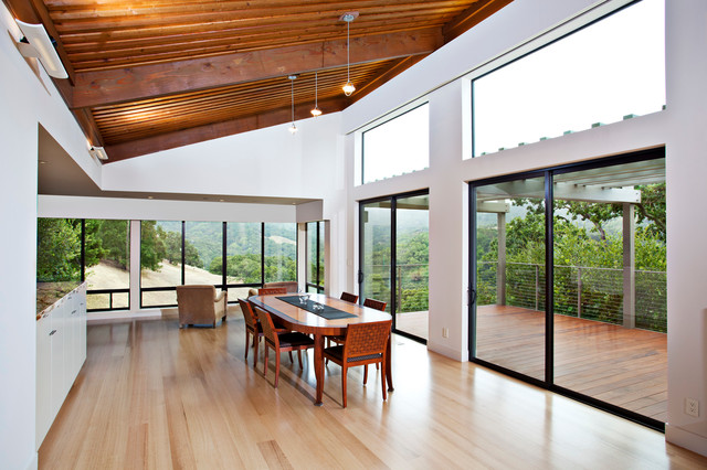 Portola Valley Modern modern dining room