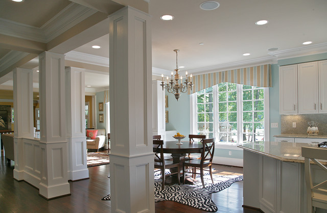 Potomac md brick ranch home to nantucket style for Nantucket style kitchen