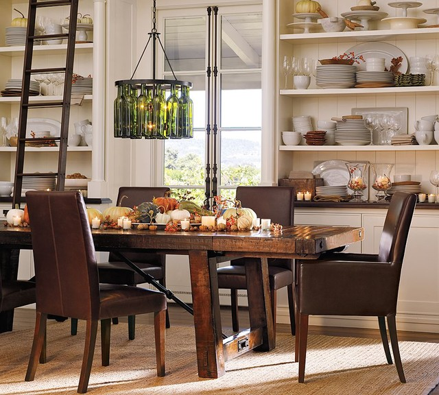 contemporary dining room by Pottery Barn