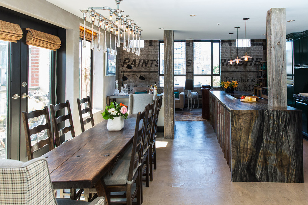 Powell Historic Industrial Industrial Dining Room Vancouver By Beyond Beige Interior Design Inc