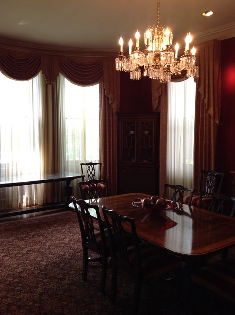 Presidential red traditional dining room baltimore for Traditional red dining room