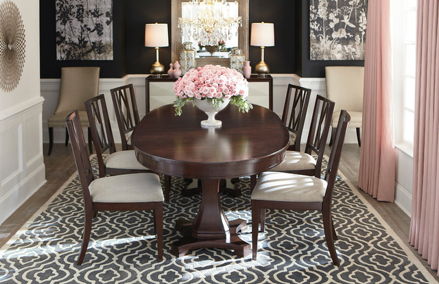 Presidio Oval Dining Table By Bassett Furniture Contemporary Room