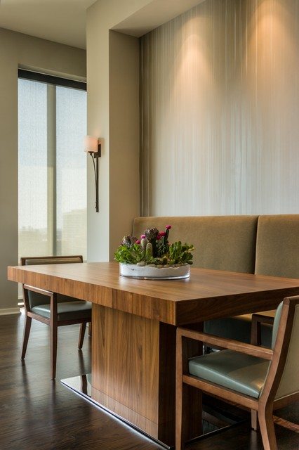 Printers Row Penthouse Condominium contemporary-dining-room