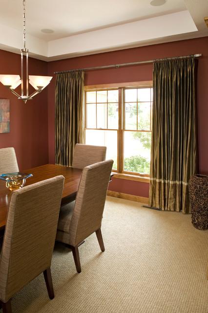Prior lake window treatments contemporary dining room for Modern dining room window treatments