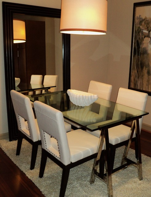 Private Corporate Apartment Houston TX Contemporary  : contemporary dining room from houzz.com size 490 x 640 jpeg 72kB