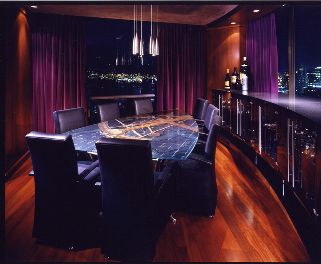 Private Penthouse contemporary-dining-room
