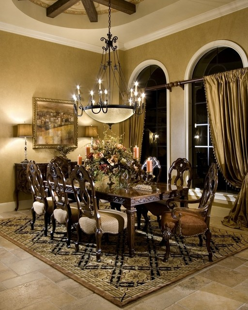 Private residence a windermere florida mediterranean for Mediterranean dining room design ideas
