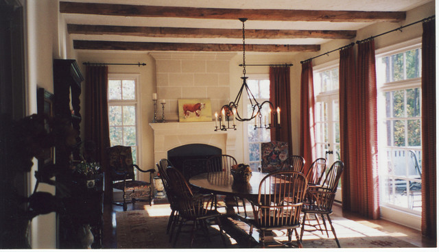 Private residence traditional dining room atlanta by leslie gross - Private dining room atlanta ...
