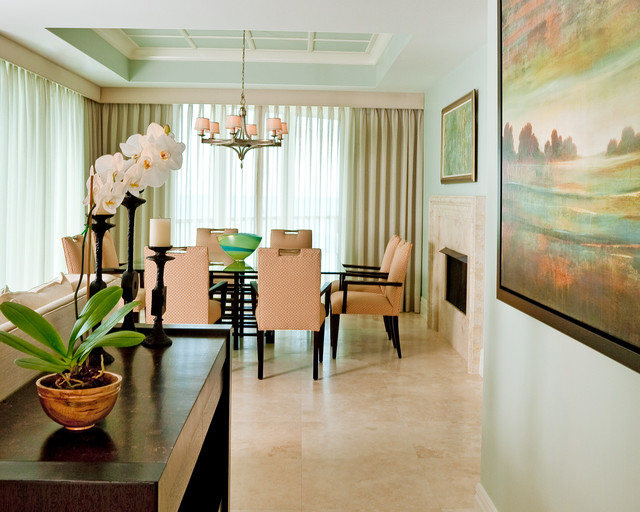 Private Residence in Southwest Florida contemporary-dining-room