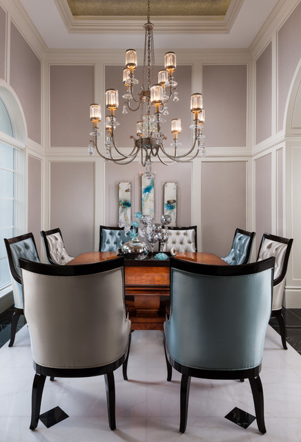 Private Residence Palm Beach Gardens Fl Transitional Dining Room Other Metro By J