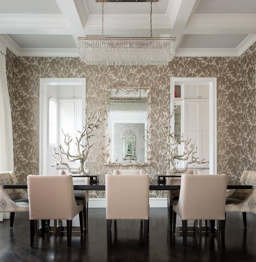 Mediterranean Dining Room By Dallas Interior Designers Decorators CDA Design