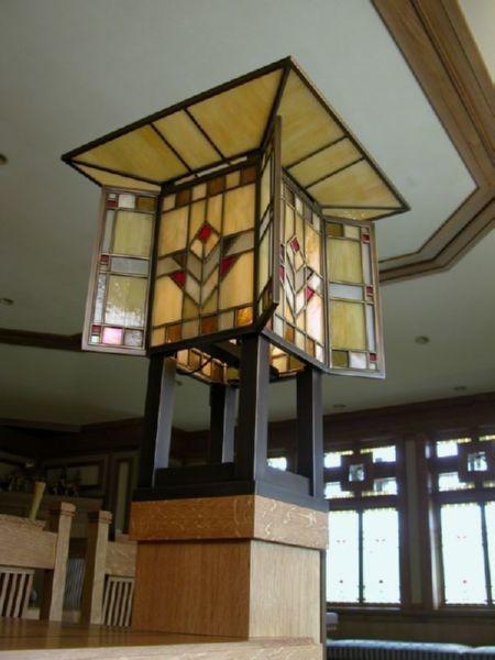 private residence prairie lighting craftsman dining room