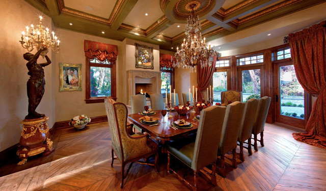 Private Residence, Recreated a 200 Year old French Villa traditional-dining-room