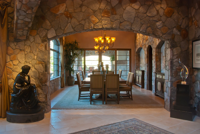 Private Residence Tucson Arizona Traditional Dining