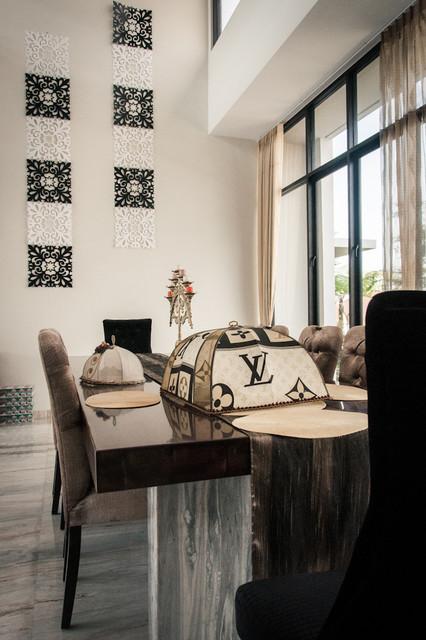 Private residence @ Villa Puncak Tidar, Malang traditional-dining-room