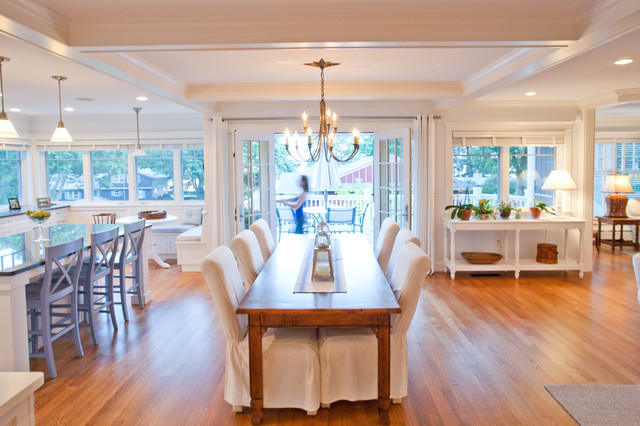 private residence beach style dining room boston by windover construction. Black Bedroom Furniture Sets. Home Design Ideas