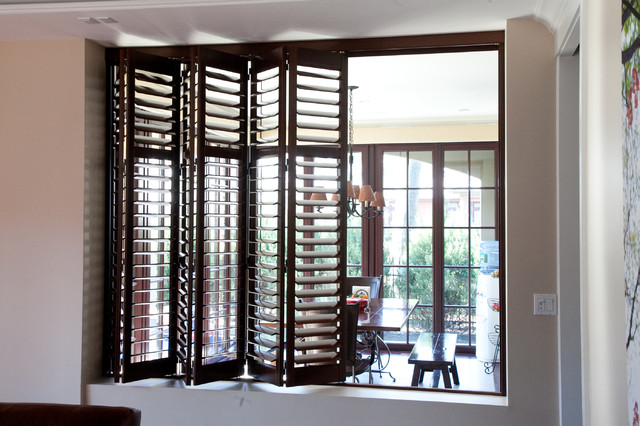 Private residence window treatments for Modern dining room window treatments