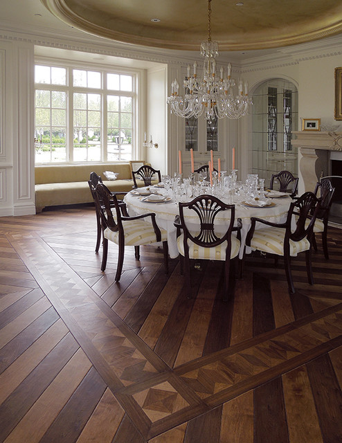 Parquet flooring hardwood floor border medallion inlays for Room by room design